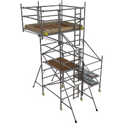 Boss Side Cantilever tower 1450 x 1.8 x 4.2m platform height + 850 x 1.8m