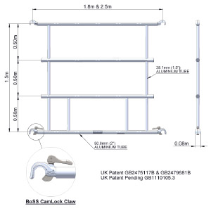 Boss Multiguard AGR Frame 2.5m